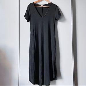 Smash & Tess black Sunday Dress short sleeve midi